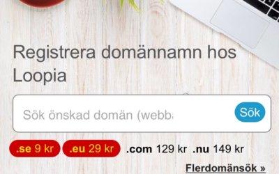 Billiga domännamn – 9 kr för .se