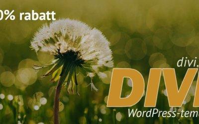 Rabatt på Divi WordPress-tema