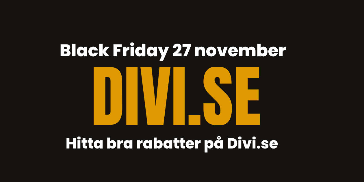 Divi och Black Friday 2020