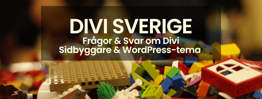 Ny svensk Facebook-grupp – Divi Sverige